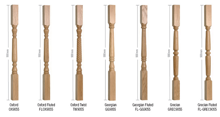 Spindles Shown Above Are 55mm X 900mm Long. 1100mm Spindles Are Available.